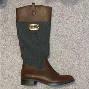 NEVER WORN!! Tommy Hilfiger Leather boots